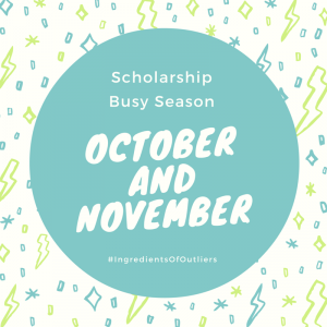 October and November Scholarship Reminders