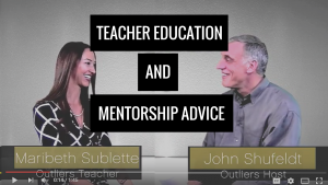 Outlier TV interviews with Outlier High School Teacher Maribeth Sublette